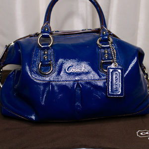 Authentic Iris Coach Ashley Signature Satchel Bag